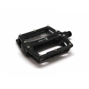 Z PLUS Педали Z-1412, DH/BMX/Fix-gear, алюминий, ось Cr-Mo, с шипами, промподшипники, 100х105х22,5мм, 375г, чёрные