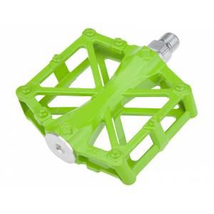 Педали mlg-CK36 алюминиевые, 92х94,5х15мм, ось CrMo, 2 промподшипника, вес 420г зелёные, в торг.уп