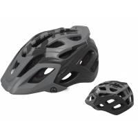 Шлем KELLYS DARE туристический, Матовый чёрный, M/L (58-61см). 23 вентиляционных отверстия, система регулировки STL 3.0, интегрированная сетка от насекомых, съёмный козырёк, сзади отражающий стикер
