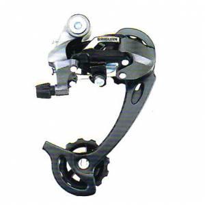 Переключатель задний HG-96A дискретный на 9 ск., длинная лапка (98мм), ёмкость 45T, крепление на петух, алюминий/сталь/пластик, в торг.уп