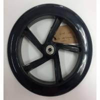 Колесо для самоката, ПУ, D:200x30мм, с подш. ABEC-7 чёрное