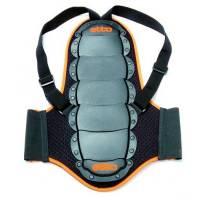 Etto Защита спины Junior black, 7 пластин, на липучках, с наплечными ремнями