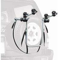 Peruzzo Автобагажник на запаску BIKE CARRIER 4x4, сталь труба D:30 мм, для 2 в-дов весом до 15кг, фиксация велосипеда за верхнюю трубу рамы (max D:60 мм), цвет: серый, упаковка-термоплёнка