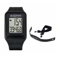 Часы спортивные SIGMA SPORT iD.GO: пульсометр, секундомер, часы. Чёрный