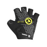 Перчатки COMFORT без пальцев, чёрный/салатовый, S