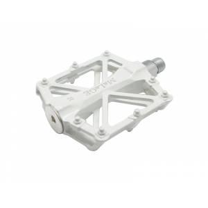 Педали mlg-CK36 алюминиевые, 92х94,5х15мм, ось CrMo, 2 промподшипника, вес 420г белые, в торг.уп