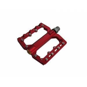 Педали mlg-CK539 алюминиевые CNC, 90х105х7мм, ось CrMo, 3 промподшипника, сменные шипы, вес 344г красные, в торг.уп