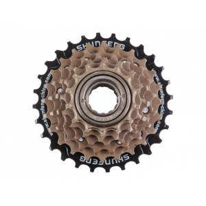 SHUNFENG Трещотка 6 ск. 14-16-18-21-24-28T дискретная коричневая