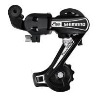 SHIMANO Переключатель задний RD-TY21-B TOURNEY, GS 6 скоростей, крепление на петух, чёрный, без уп.
