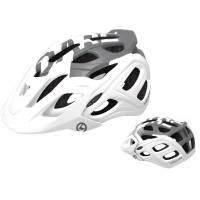 Шлем KELLYS DARE туристический, Матовый белый, S/M (54-57см). 23 вентиляционных отверстия, система регулировки STL 3.0, интегрированная сетка от насекомых, съёмный козырёк, сзади отражающий стикер