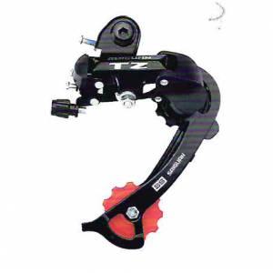 Переключатель задний HG-62A дискретный на 8 ск., длинная лапка (84мм), ёмкость 39T, крепление на петух, сталь/пластик, в торг.уп