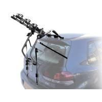 Peruzzo Автобагажник на заднюю дверь VENEZIA, сталь, труба D:30 мм, для 3 в-дов весом до 15кг, фиксация велосипеда: за верхнюю трубу рамы max D:60 мм, двойные верхние стропы, фиксируется с помощью поворотной рукоятки, цвет: серый, упаковка-термоплёнка