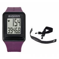 Часы спортивные SIGMA SPORT iD.GO: пульсометр, секундомер, часы. Фиолетовый