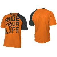 Джерси с коротким рукавом RIDE YOUR LIFE Enduro, полиэстер, оранжевое, XL