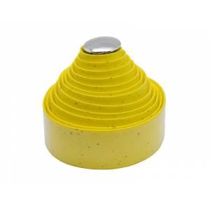 VELO Оплётка на руль VLT-001-05 адгезивная, 200х3см, ЭВА/пробка/гель, жёлтая, с заглушками VLP-49