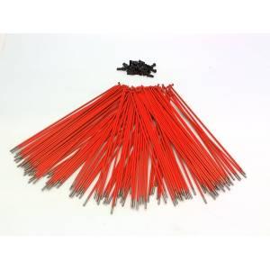 PILLAR Спицы, нерж.сталь, 2,0мм 14Gх186мм, оранжевые с чёрными алюм. ниппелями, 40 шт.