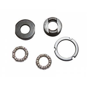 "NECO Каретка B882, BSA 1.37""x 24T, R/L, сталь, 5 частей (чашки, контргайка, подшипники 1/4""x9x2шт.). Чёрная. Назначение: Light weight, Minicycle, в торг.уп."