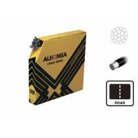ALHONGA Трос тормоза 1,5х2000мм гальванизированный с тефлоновым покрытием, головка 6x10мм (для шоссе) 50шт./кор.