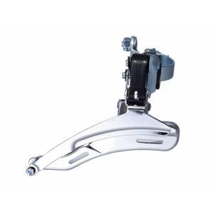 Переключатель передний QD-06 дискретный, нижняя тяга, для 21/24ск., стальной зажим D:31,8, макс.48T, ёмкость 22T, в торг.уп
