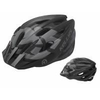 Шлем KELLYS BLAZE для MTB-XC, матовый чёрный, S/M (54-57см). 19 вентиляционных отверстий, система регулировки STL 3.0, новый козырёк, отражающий стикер сзади