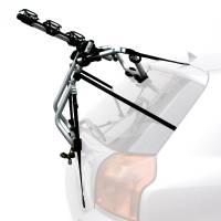 Peruzzo Автобагажник на заднюю дверь VENEZIA, алюминий, труба D:30 мм, для 3 в-дов весом до 15кг, фиксация велосипеда: за верхнюю трубу рамы (max D:60 мм), фиксируется блокировочным рычажком, двойные верхние стропы, цвет: серое защитное покрытие, упаковка