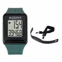 Часы спортивные SIGMA SPORT iD.GO: пульсометр, секундомер, часы. Бирюзовый