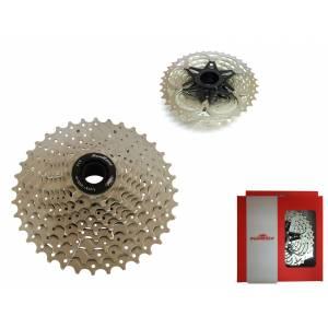 SUNRACE Кассета CSMS0 TAW, 10 скоростей, дискретная, 11-36Т, 2 алюм. паука, вес 348г, хромированная, в торг.уп.