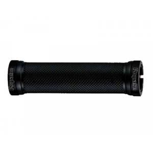 """PROPALM Грипсы HY-697EP, 120мм, с 2 грипстопами, с заглушками, поверхность """"dimond"""", чёрные, с упаковкой"""