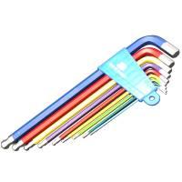 BIKE HAND YC-623-9C Набор длинных цветных шестигранников в обойме 1,5/2/2.5/3/4/5/6/8/10мм