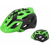Шлем KELLYS DARE туристический, Матовый зелёный, S/M (54-57см). 23 вентиляционных отверстия, система регулировки STL 3.0, интегрированная сетка от насекомых, съёмный козырёк, сзади отражающий стикер