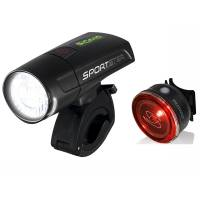 SIGMA Комплект освещения SPORTSTER / MONO RL (1 режим) K-SET, с зарядкой и акк., чёрный