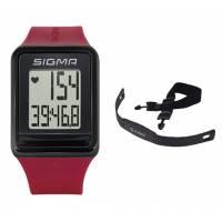 Часы спортивные SIGMA SPORT iD.GO: пульсометр, секундомер, часы. Красный