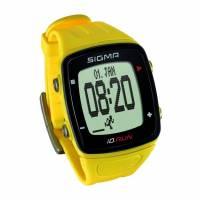 Часы спортивные SIGMA SPORT iD.RUN: скорость и расстояние (на основе GPS), индикатор расстояния, счётчик кругов, месячная статистика, личные достижения, отслеживание активности. Жёлтый