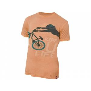 "Футболка муж. ""Dirt"", хлопок/полиэстер, оранжевая, S"