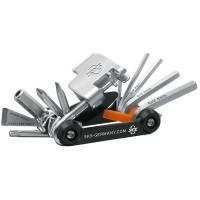 SKS Инструмент складной Tom 18: шестигранники 2,5/3/4/5/6/8, Torx25, отвёртки +/-, монтажки х2, инструмент для работы с тормозными колодками/открывалка, спицевые G14/G15, выжимка цепи