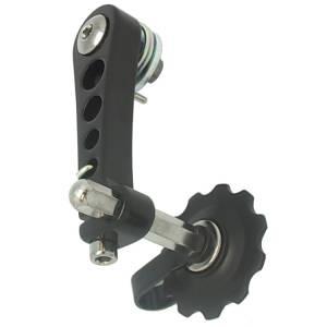 MR.CONTROL Натяжитель цепи SSP-11-1 (на петух вместо переключателя скоростей для singlspeed ) Перфорированный. Чёрный