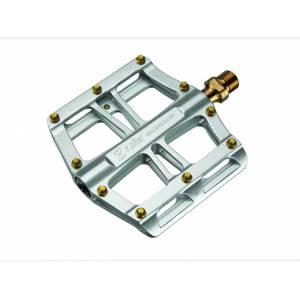 Z PLUS Педали Z-1303, DH/BMX/Fix-gear, магниевый сплав, ось Cr-Mo, сменные стальные пины, промподшипники, 100х105х18,5мм, 266г, серебристые