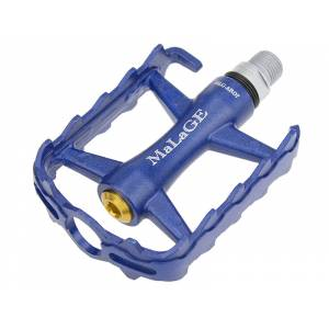 Педали mlg-AR07 алюминиевые, 95х72х24мм, ось CrMo, 1 шариковый подшипник + 1 подшипник скольжения, отражатель, вес 320г синие, в торг.уп