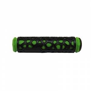 HUALONG Грипсы 22,2х130мм, резина, чёрно-зелёные,торг.уп.