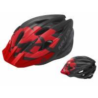 Шлем KELLYS BLAZE для MTB-XC, матовый красный, S/M (54-57см). 19 вентиляционных отверстий, система регулировки STL 3.0, новый козырёк, отражающий стикер сзади