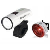 SIGMA Комплект освещения SPORTSTER / MONO RL (1 режим) K-SET, с зарядкой и акк., белый