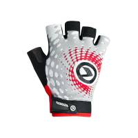 Перчатки IMPACT short (без пальцев) Lycra, белый/серый/красный, S