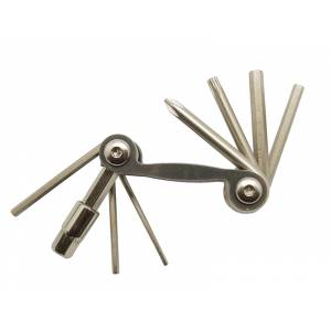 BIKE HAND YC-286N Мининабор инструментов складной: шестигранники 2/2.5/3/4/5/6/8, отвёртка+, Т25