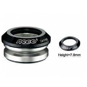 """NECO Рулевая Н52 интегрированная 1-1/8""""х30мм, высота 9,4±0,5мм, вес 71г, промподшипники Ø41,8x45°x45°, крышка 7,8мм, алюминий 6061, CNC/ сталь, чёрная, 6 частей"""