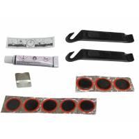 MINGDA Ремкомплект: резиновый клей 8мл, 8 заплаток D:25мм, наждачка, 2 пластиковые монтажки, инструкция, в пластиковой коробочке