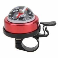 Звонок ударный с компасом, красный, сталь/пластик