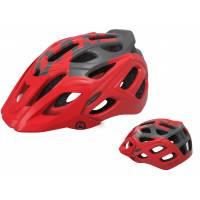 Шлем KELLYS DARE туристический, Матовый красный, S/M (54-57см). 23 вентиляционных отверстия, система регулировки STL 3.0, интегрированная сетка от насекомых, съёмный козырёк, сзади отражающий стикер