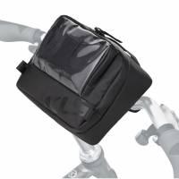 Сумка на руль KLS GIRON, 2л, 23х15х7см, трёхточечное крепление липучкой, окошко для смартфона/планшета, влагостойкая ткань, светоотражающие элементы, 100% нейлон