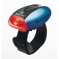 SIGMA фонарик MICRO красный, корпус синий
