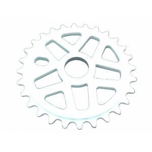 Звезда ВМХ 7мм. 28Т алюминий, белая